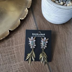 Baublebar Gem Stone Dangle Earrings Statement